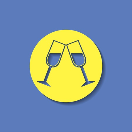 clink: Two glasses of wine or champagne icon