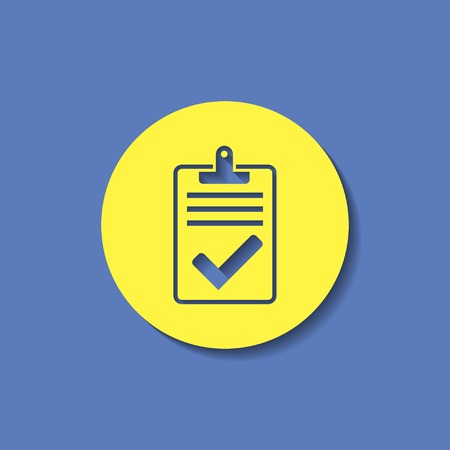 survey: Quality control related vector icon. Pass