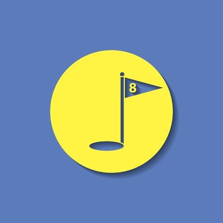 minigolf: Hole Course Golf icon Illustration