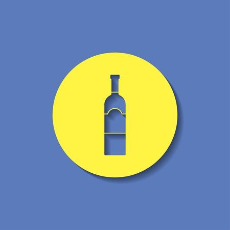 unopened: kitchen icon of wine bottle