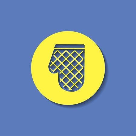 trustworthy: kitchen icon of potholder