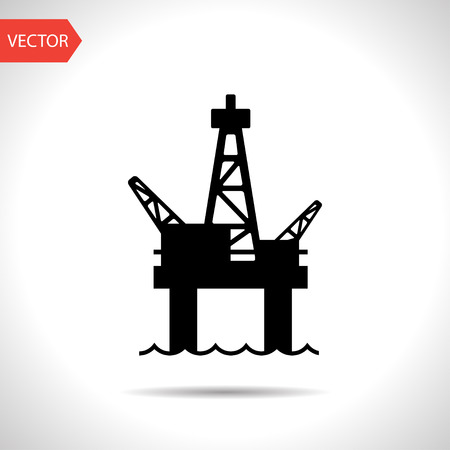 Oil platform icon Stock Illustratie
