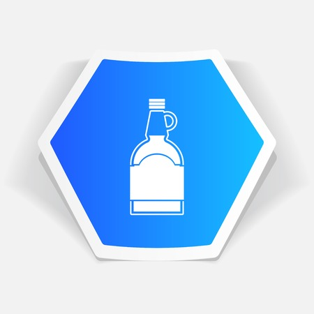 flavoring: kitchen icon of mapple syrup bottle Illustration