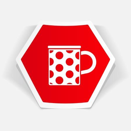 coffe break: kitchen icon of cup