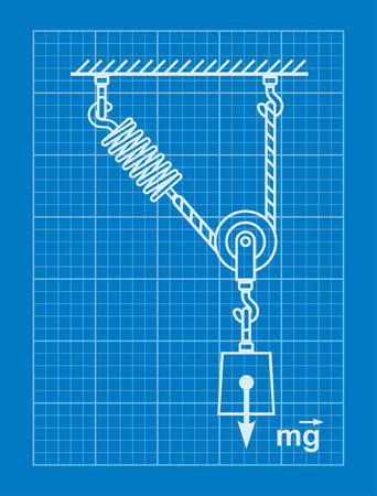 movable: Loaded Movable Pulleys with spring and rope blueprint
