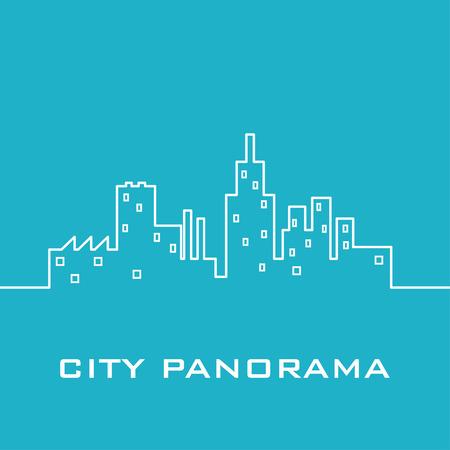 panorama: Blue city panorama