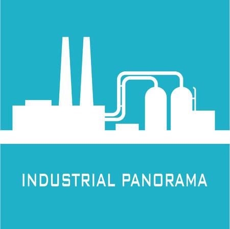 panorama: Blue industrial panorama