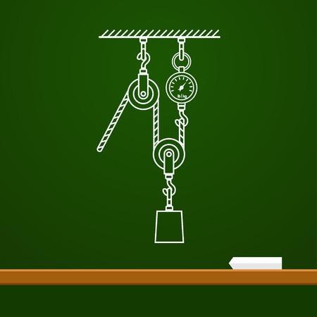 carrucole: Loaded mobili pulegge e della fisica della corda di disegno a bordo