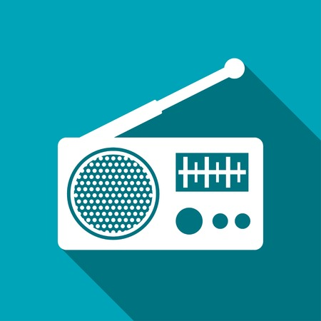 retro radio: Radio icon Illustration