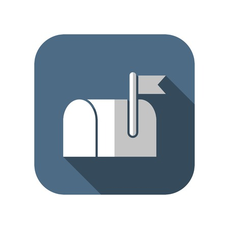 mail address: Mail box icon Illustration