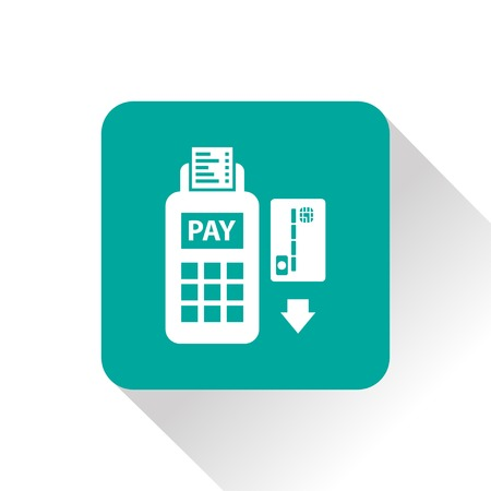 card payment: Credit card payment, magnetic stripe reading Illustration