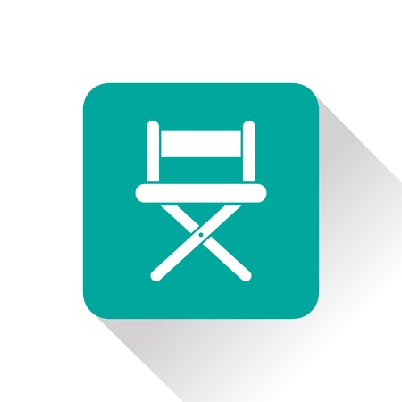 director chair: illustration of cinema director chair icon Illustration