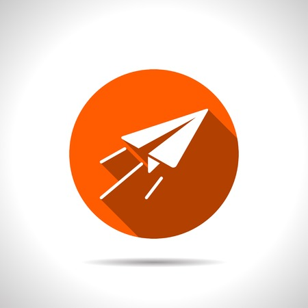 air travel: Paper Plane sign. Airplane symbol. Travel icon.