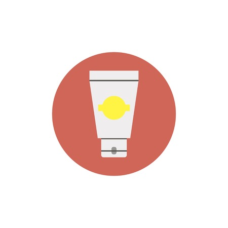 aftershave: Flat web icon of cream tube