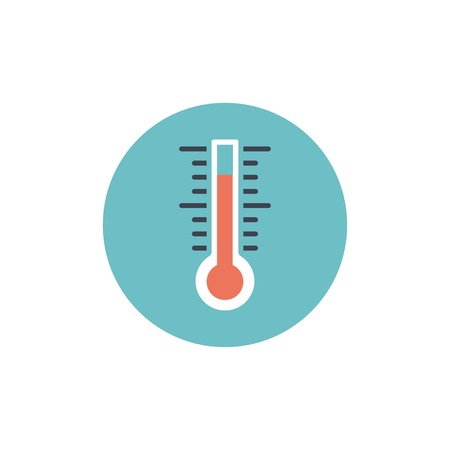 thermometer: Flat web icon of thermometer Illustration