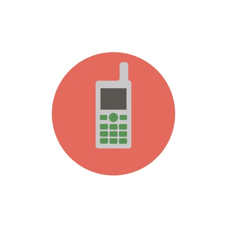 cordless phone: Flat web icon of cell phone Illustration