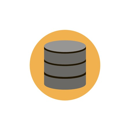 data storage device: Flat web icon of database