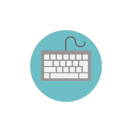 put the key: Flat web icon of keyboard Illustration