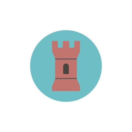 loophole: Flat web icon of tower