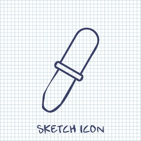 pipet: Vector sketch icon of pipette