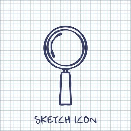to find: find Vector sketch icon Illustration