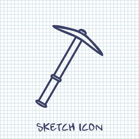 pick: Vector sketch icon of pick