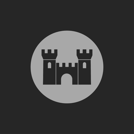 icon of castle Иллюстрация