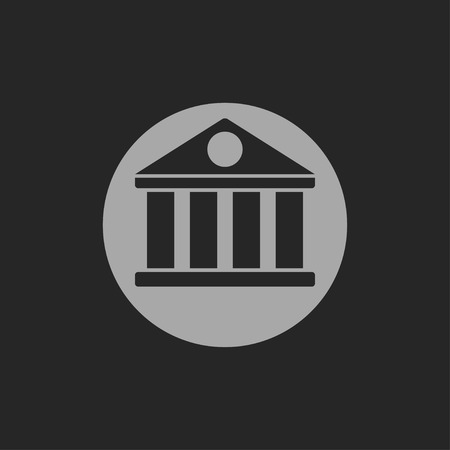governmental: icon of court building Illustration