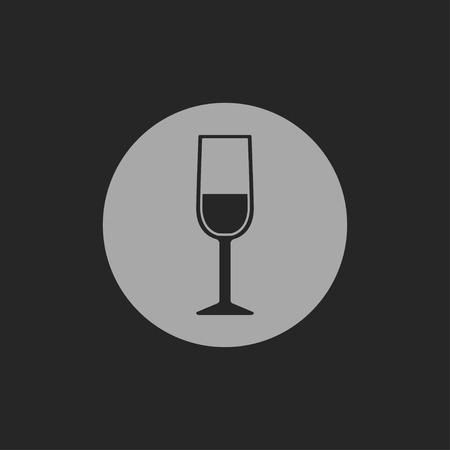 şarap kadehi: Şarap cam simgesi Çizim