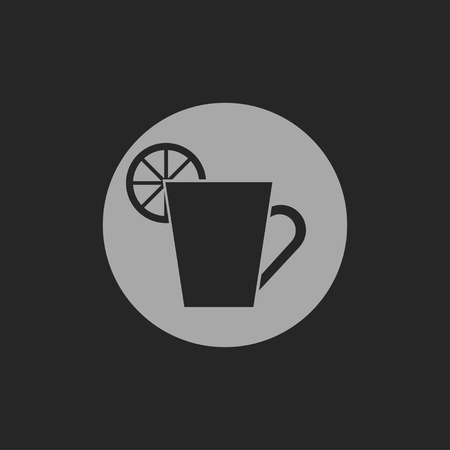 coffe break: kitchen icon of cup with lemon Illustration