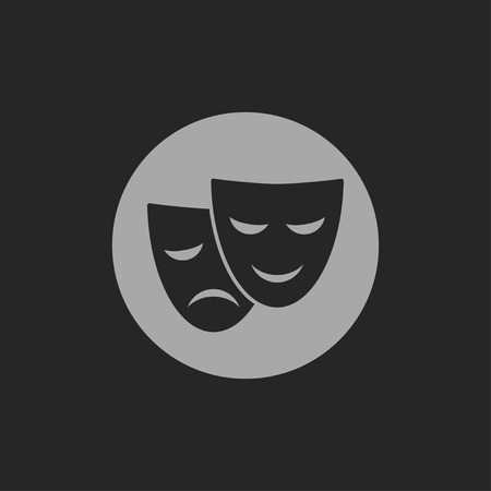 actor: theatre masks icon