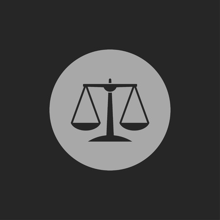 righteousness: Justice scale icon Illustration
