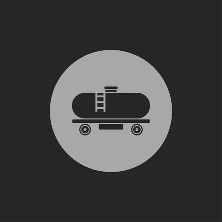 camión cisterna: Icono de tanque de ferrocarril Vectores