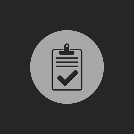 quality icon: Quality control related vector icon. Pass