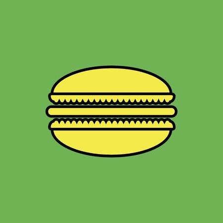 macaroon: Vector macaroon icon. Food icon. Eps10