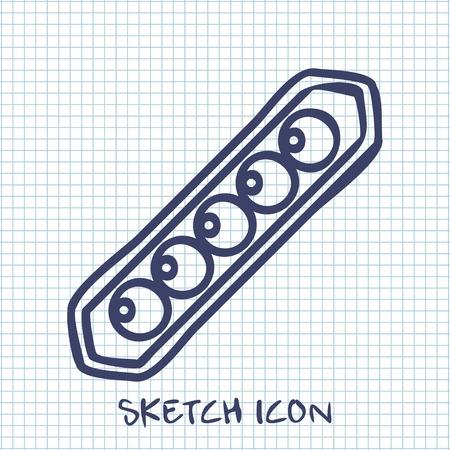 legume: peas sketch icon. Food symbol