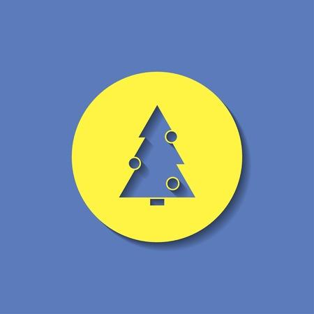 xmas tree: vector icon of xmas tree