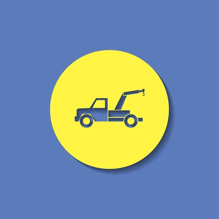 tow car: vector icon of tow car Illustration