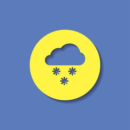vector icon of snow