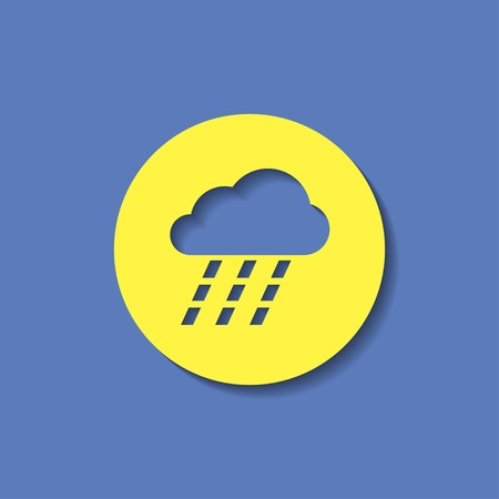 heavy rain: vector icon of heavy rain