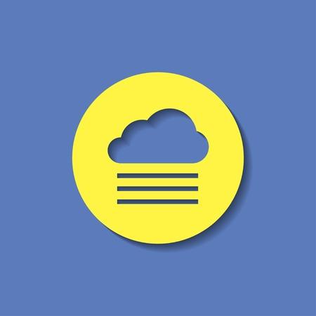 foggy: vector icon of foggy