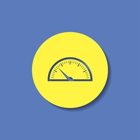 gauge: vector icon of gauge