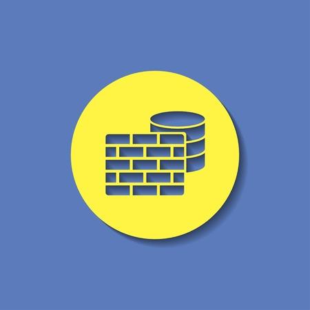 icon of firewall Illustration