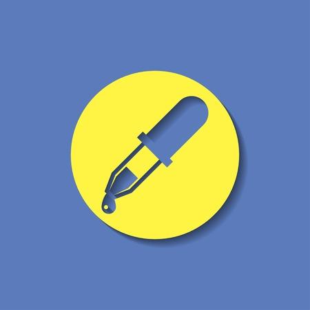 pipette: icono de la pipeta Vectores