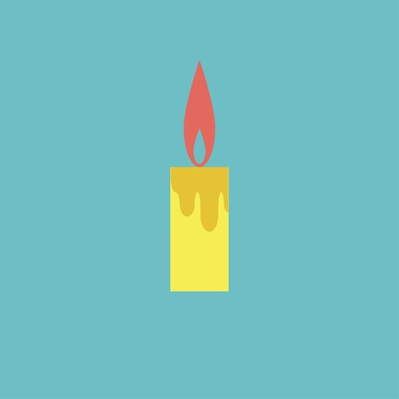 birthday candles: icon of candle Illustration