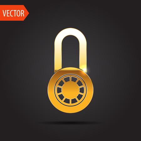 personal profile: icon of code lock Illustration