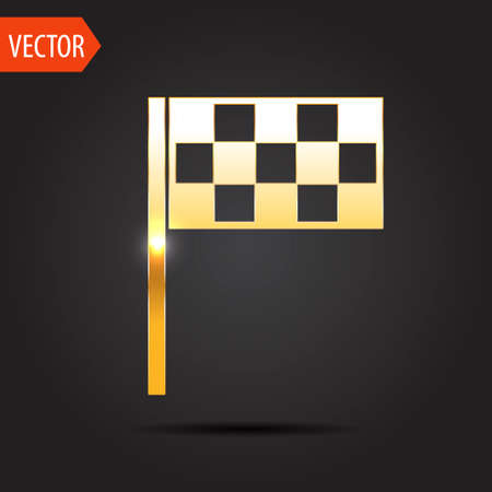 accomplish: icon of flag Illustration