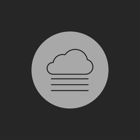 foggy: icon of foggy weather Illustration