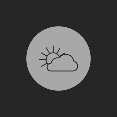 wheather forecast: icon of sun and cloud Illustration