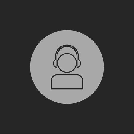 icon of head in headphones
